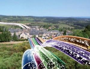 Photo-montage de la fibre à Aumont-Aubrac.